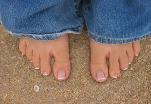 French Pedicure (click image for tuturial)