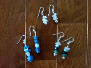 Earrings made by Hannah Smith