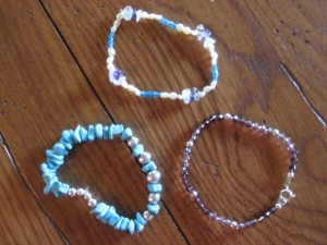 Bracelets made by Hannah Smith